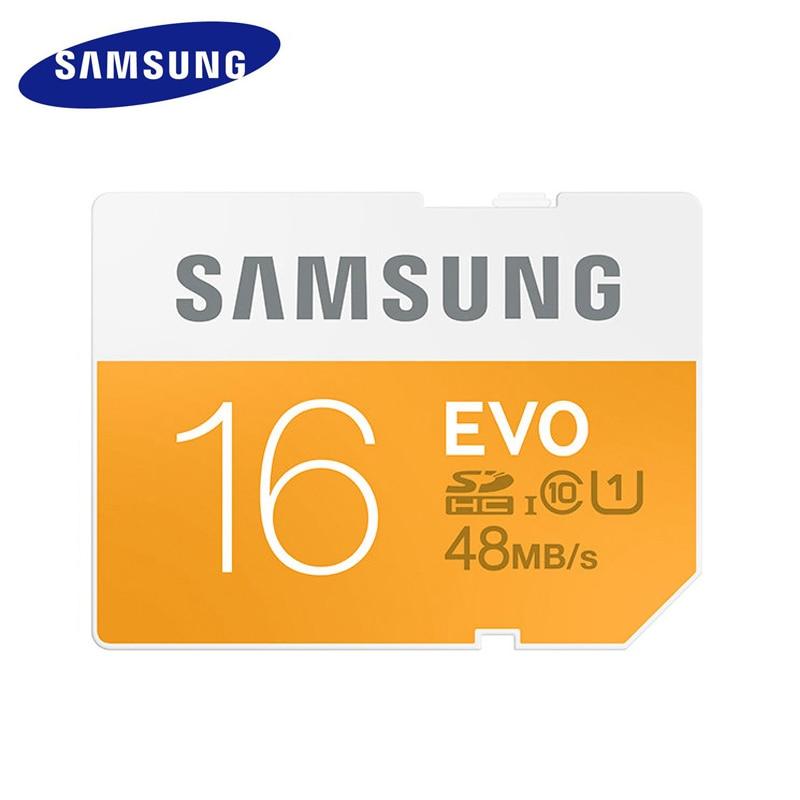 Original SAMSUNG Sd Card 16gb Class 10 SD EVO  SDHC/SDXC 16GB Tarjeta Sd Dropshipping For Canon Digital Sport Camera SD Card