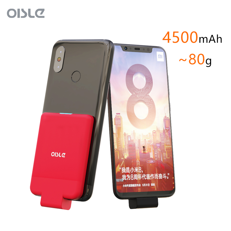 4500mAh <font><b>Battery</b></font> <font><b>Case</b></font> For <font><b>Xiaomi</b></font> <font><b>Mi</b></font> 5 8 SE 5s Plus <font><b>Note</b></font> 2 Max Mix Type-C Portable Fast Charging Charger <font><b>Case</b></font> Slim Power Bank image