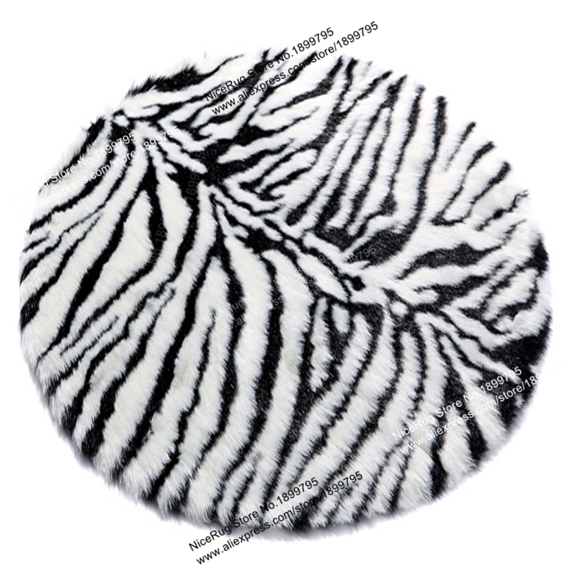 Tiger Leopard Zebra Stripes Round Carpet Bedroom Rug Kids animal skin printed carpet Window Living Room Sofa Mat 75/110CM2/3Feet