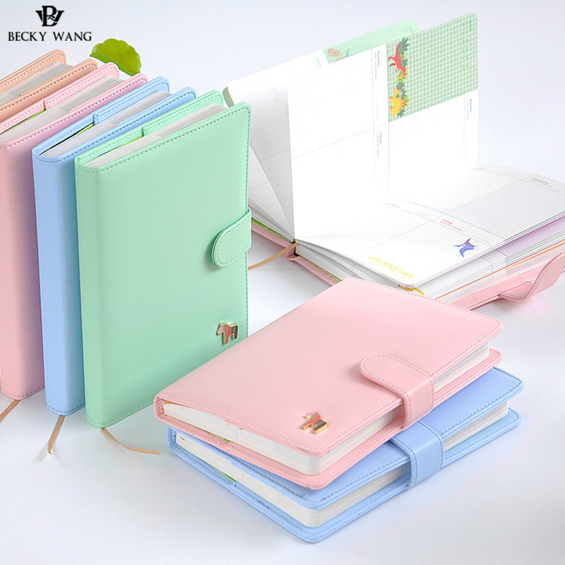 BW Lovely Priented Notebook A5 Korea Sweet Gift Creative Student Pony Week Program Schedule Diary Book Notebook Office Stationer 2017 a5 week schedule the plan diary book notebook notebook korea creative stationery diary hand account