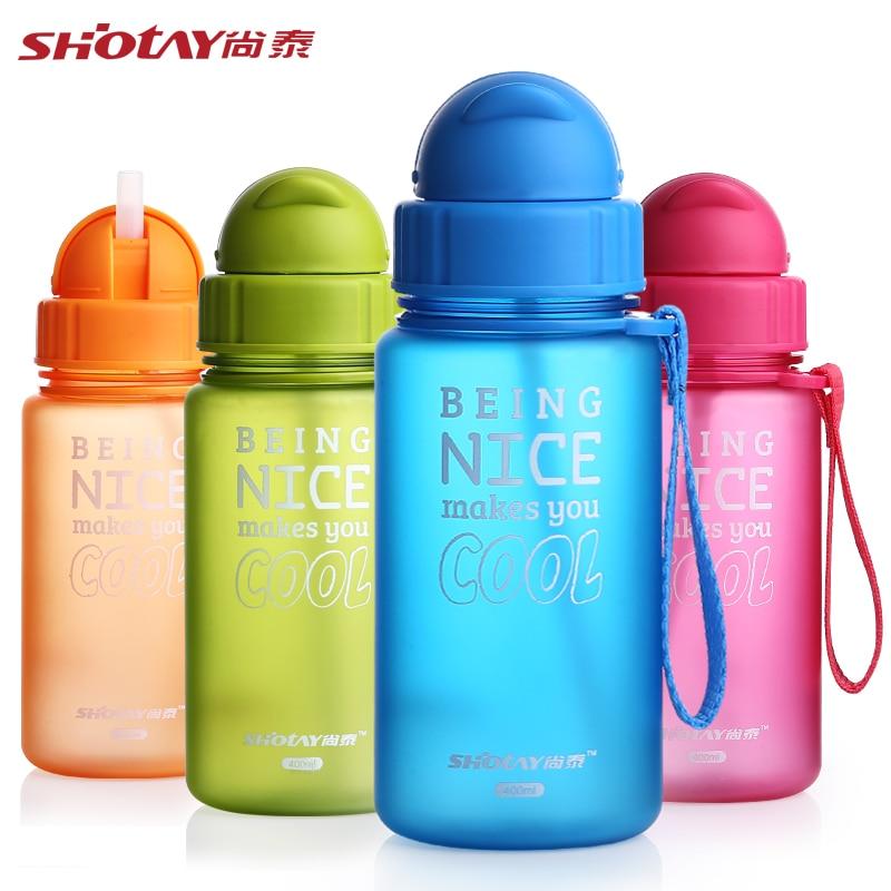 400ML Baby Water Bottle Kid Bottles With Straw Child ...