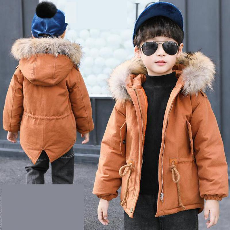 2018 New Winter Children Jacket Boys Fashion Hooded Outwears Kids Down Cotton Coat Teenage Padded-cotton Parkas Boy Clothes Sale 2017 new fashion women long coat cotton padded clothes thicken winter female parkas lamb wool hooded drawstring jacket plus size page 8