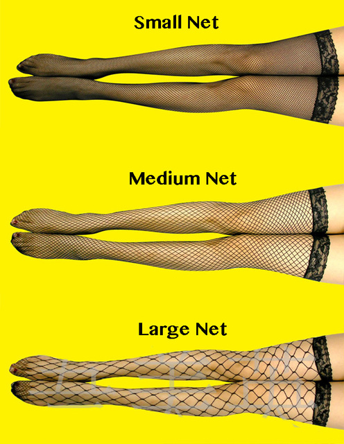 5 Colors.Sexy Women's Hosiery Lace Top Stay Up Thigh High Stockings.Ladies Hollow out Mesh Nets Lace Fishnet Stockings Pantyhose