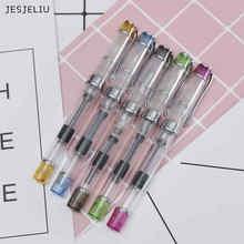 JESJELIU 1 Pc Iridium Point Fine Nib Fountain Pens Extra Fine 0.38 mm Student Office Calligraphy Practice Ink Pen