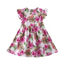 Toddler Girl Bunny Floral Princess Dress