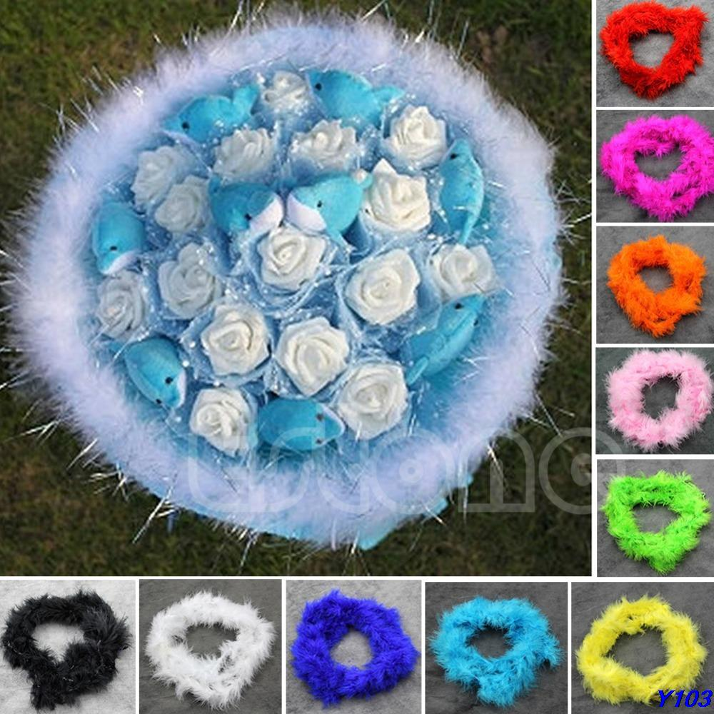 ✓2Meters Colourful Marabou Feather Boa For Burlesque Fancy Dress ...