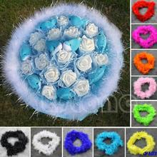 Free  Shipping 2Meters Colourful Marabou Feather Boa For Burlesque Fancy Dress Party Boas
