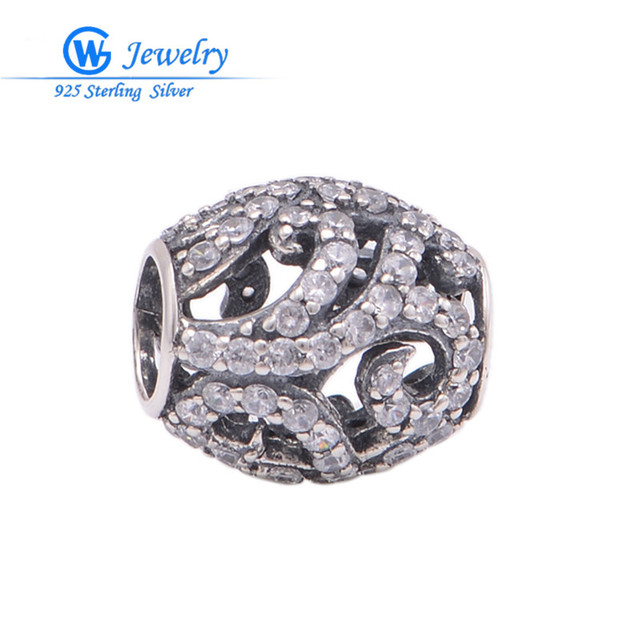 whole sale lots free 925-sterling-silver pave charms diy beads  fits friendship bracelets bijoux GW fine jewelry X330H20
