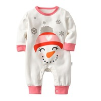 2018 Newborn Baby Boy Baby Girl Warm Infant Zipper Cotton Long Sleeve Romper Jumpsuit Hooded Clothes Sweater Outfit 0 18M