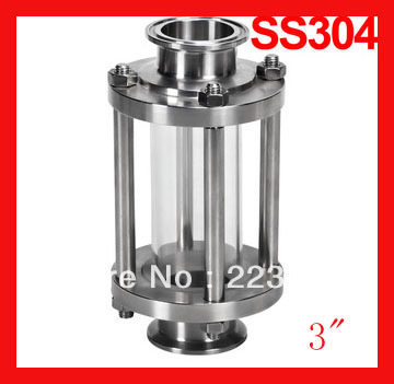 3 Sanitary clamp sight glass, Stainless steel straight sight glass , Tri-clamp end flow tube megairon tri clover sanitary spool tube with 51 64mm ferrule clamp ss316 4 6 8 12 18 24 length tube thickness 1 5mm
