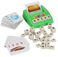 Learning Machine, Learn English Word Puzzle Toy, Children's Educational Toys, Baby Literacy Fun Game, English Learning Cards