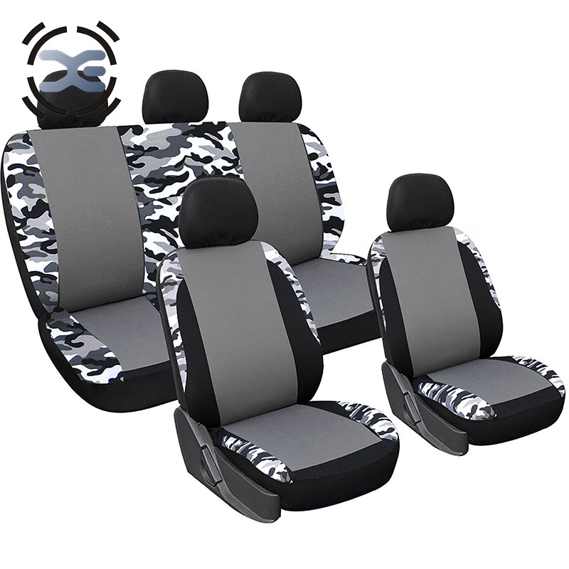 5 Seats Cloth Art Camouflage Car Seat Cover Universal Fit SUV Pickup Truck Protects Seats From Wear T167