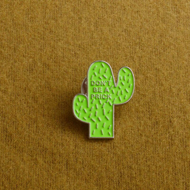 Cactus Pin Jangan Menyebalkan Lencana Bros untuk Wanita Kerah Pin Lezat Gurun Barat Daya Tanaman Wanita Perhiasan