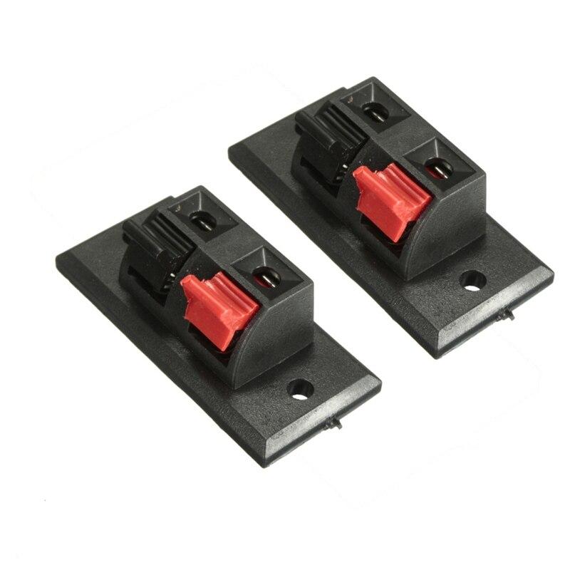 LEORY 10 Pcs Spring Clip Speaker Terminal Board 2 Ports Binding Post Connector Socket - ANKUX Tech Co., Ltd