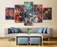 Halloween theme 5 Piece HD Print Wall Art Canvas Art For Living Room Decor Painting Wall Art Canvas Modern Home Decor Picture urban hd print wall art canvas painting modern home canvas wall art for living room painting modern decor home decor picture