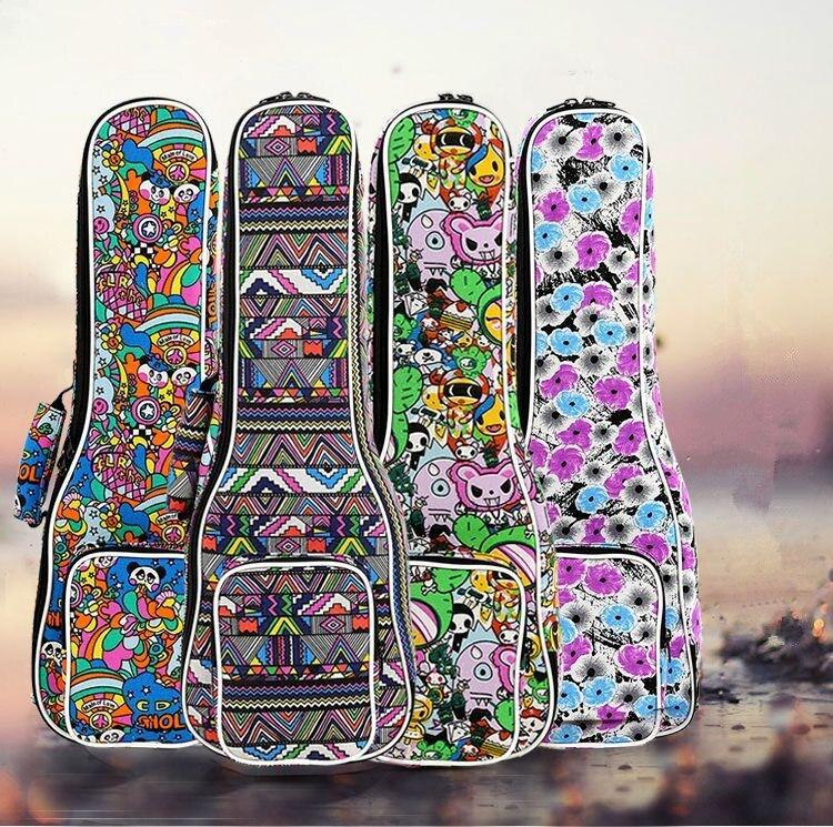 Waterproof Soprano Concert Ukulele Bag Case Backpack 21 23 24 26 Inch Ukelele Beige Mini Guitar Accessories Gig