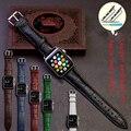 Novo 2015 banda pulseira de couro de moda para a apple watch strap 38mm/42mm preto vermelho marrom com adaptador acessórios frete grátis