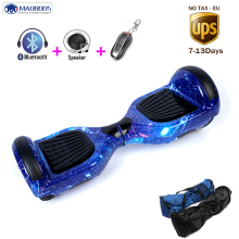 Hover Board 6.5 inch 2 wheels electric Skateboard self balancing electric scooter bluetooch remote bag body twisting hoverboard