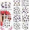 Wholesale 50Sheet LOT 3D Flower Nail Art Design Glitter Nail Sticker Sheets Decals 8 Different Design