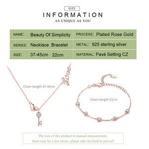 Image 2 - Bamoer colares de prata refinada 925, conjunto de joias de prata autêntica para casamento