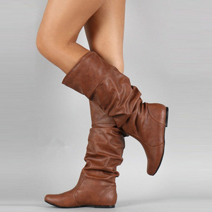 Image 5 - VTOTA Punk Style Knee High Boots Womens Rain Boots Outdoor Rubber Water Shoes For Female Plus Size 35 43  Martin Boots Botas