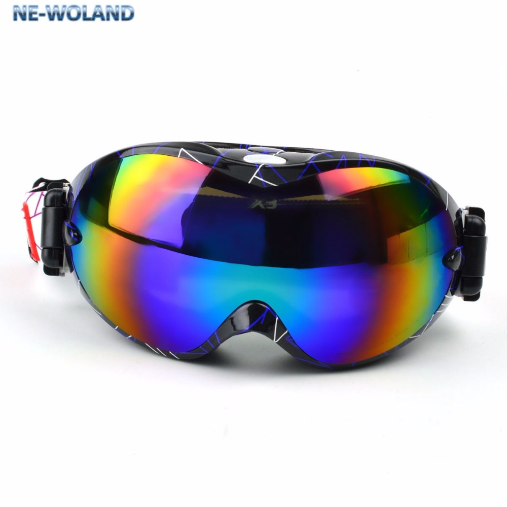 Professional sports goggle for skiers Double layers large sphere snow goggles anti uv 400 anti fog wind proof passed CE in Men 39 s Sunglasses from Apparel Accessories