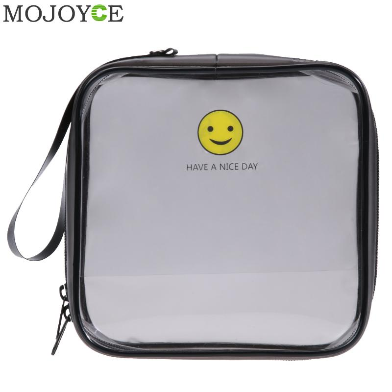 Portable Waterproof Cosmetic Storage Bag Transparent PVC Travel Wash Bag Transparent Cosmetic Bags Women Travel Makeup Organizer mihawk color transparent pvc cosmetic bag korean style markup bags travel multifunctional accessories women s wash accessories