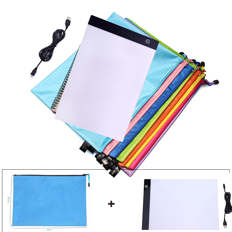 28x38cm Portable zipper bag for <font><b>dimmable</b></font> <font><b>A4</b></font> <font><b>led</b></font> <font><b>light</b></font> <font><b>pad</b></font>,tablet,tools,diamond embroidery,accessories for diamond painting b4 image