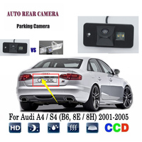 Reverse Camera For Audi A4 S4 (B6, 8E / 8H) 2001~2005 CCD Night Vision RCA rear view Camera license plate camera Back up Camera