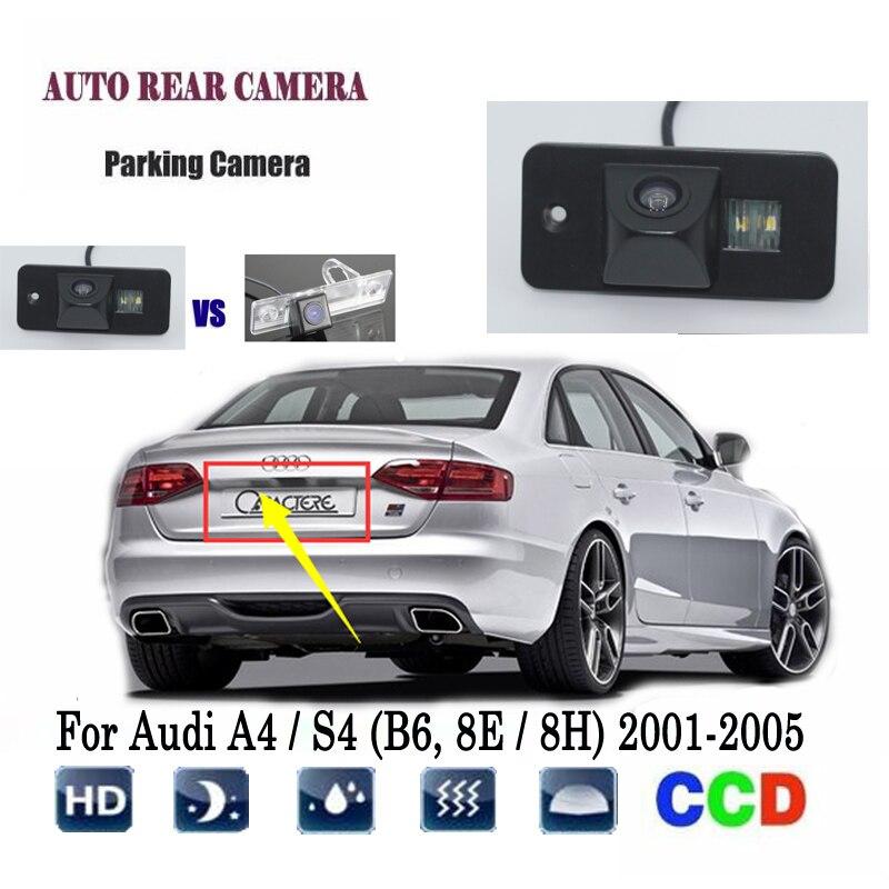 Reverse Camera For Audi A4 S4 (B6, 8E / 8H) 2001~2005 CCD Night Vision RCA rear view Camera license plate camera Back up Camera