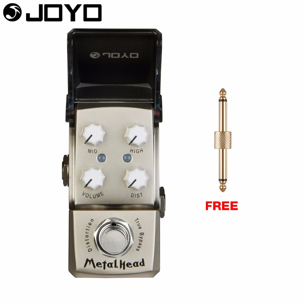 Joyo Metal Head Distortion Guitar Effect Pedal True Bypass Gain Control JF-315 with Free Connector nux metal core distortion stomp boxes electric guitar bass dsp effect pedal 2 metal hardcore sound true bypass