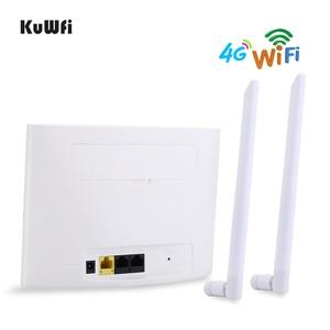 Image 4 - KuWfi 4G LTE CPE Router 150Mbps Wireless CPE Router 3G/4G Wifi Routerสนับสนุน4Gถึงเครือข่ายแบบมีสาย32อุปกรณ์Wifi