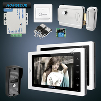 HOMSECUR 1C2M with Electric Lock 7 Wired Video&Audio Home Intercom + Keys Included
