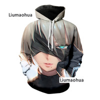 Liumaohua 2019 winter new men/women brand sweatshirt 3d printing video game hoodie long sleeve Sweatshirt