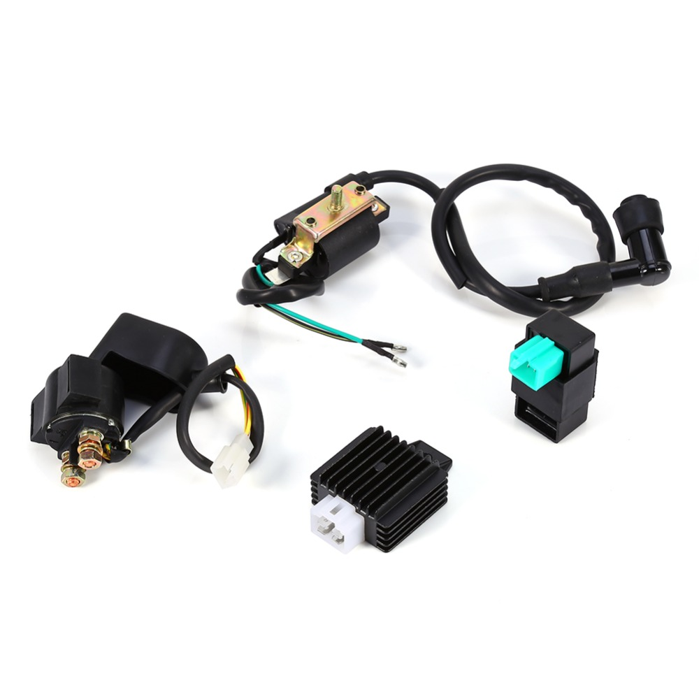 Car Styling Regulator Motorcycle Rectifier Relay Ignition Coil Cdi Chinese Atv Quad Motorbike 50cc Wiring Plug 70 90cc 110cc