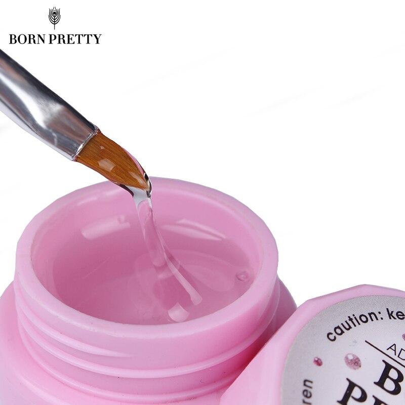 10g BORN PRETTY Nail Decoration Adhesive Glue For Nail Rhinestone False Tips Glue Nail Decoration Tool Need UV LED Lamp Cure