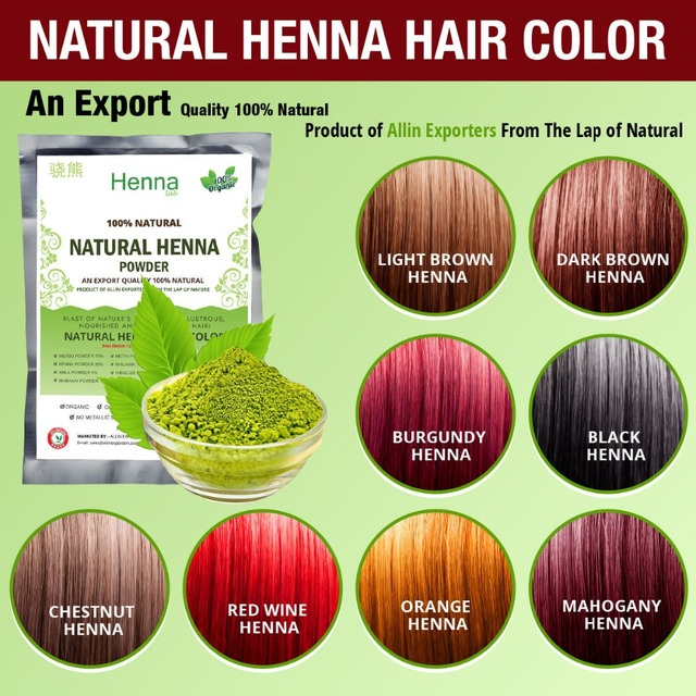 Free Shipping Organic Henna Hair dye/color 60 Grams For Men & Women ...
