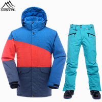 SAENSHING Winter Ski Suit Men Brand Snowboarding Suits Waterproof Thermal Ski Jacket Snowboard Pants New Warm