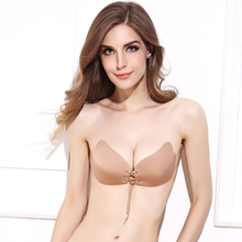 DeRuiLaDy Fashion Angel Sexy Bra Seamless Strapless Bra Female Must Push Up Bra Wire Free Invisible Bra Perfect Silicone Bra