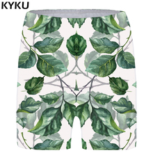 KYKU Leaf Shorts Women Green Casual Short Pants Branch 3d Printed Gothic Sexy Anime Ladies Womens Summer Fashion