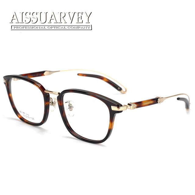 Quadro de moda óculos marca designer óptico prescrição grande perna especial de alta qualidade do vintage dos homens das mulheres de lazer de luxo novo