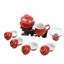 10pcs/lot wedding cup porcelain tea cup under glaze ceramic cup of tea Chinese kungfu serving cups small for Pu'er Green tea new
