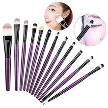 12 Pcs Eyeshadow Eyeliner Brush Blending Pencil Foundation Eye Shadow Makeup Brushes 88 HJL2017