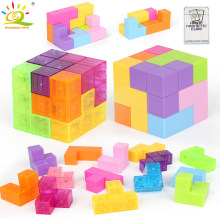 HUIQIBAO TOYS Magnetic Magic Cube Building Blocks Antistress Cubo Educational Learning 3D Puzzle Toys For Children Color Random(China)