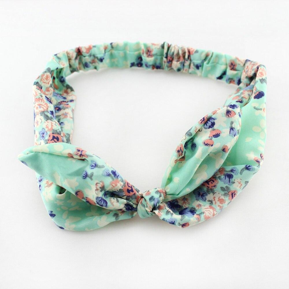 1pcs Lovely Women Headband Striped Rabbit Bunny Ear Ribbon Wire Headband Scarf Cute Bow Head Band
