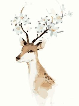Pintura al óleo Digital sin marco DIY Sika Deer pinturas digitales por números para regalo pintura al óleo Digital para colorear por números pintura 40 cm 50X50 cm