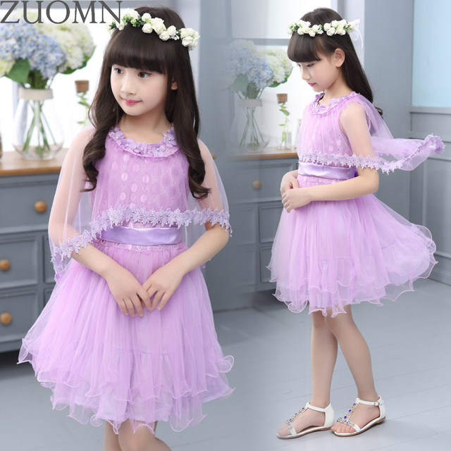 Princess Girls Dresses for Party And Wedding Summer Dresses for Children's Costumes Layered Dress Queen Cinderella Clothes GH354