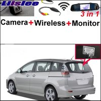 3 In1 Special Camera Wireless Receiver Mirror Monitor DIY Back Up Parking System For Mazda 5