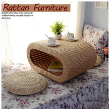 Japanese Small Tatami Tea Table Rattan Low Table