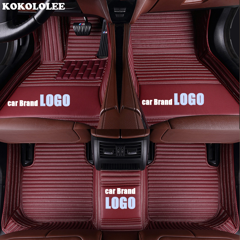 Kokololee LOGOTIPO esteira do assoalho do carro para JEEP Compass JEEP Wrangler Cherokee Patriot Grand Cherokee Commander Liberty Renegade Floor Mat